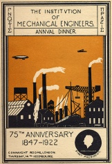 IMechE 75th anniversary dinner invite