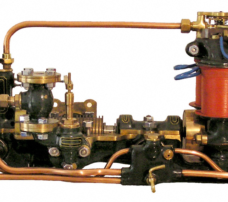 Parsons 5kw turbogenerator set model, c1880