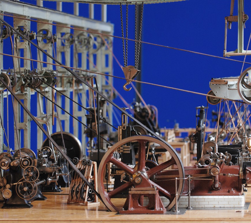 Engineering workshop model section, based on Royal Arsenal works, c1893-1910