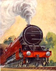 The Royal Scot number 6100, LMS cover artwork, 1928