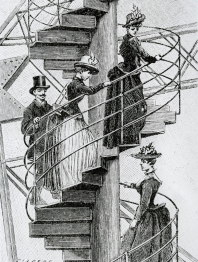 Climbing the Tower in 1889, by Gilbert