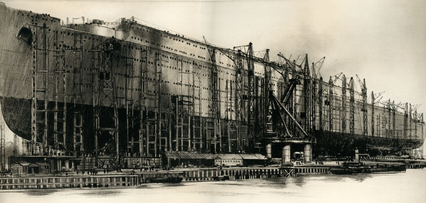 Queen Mary under construction